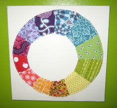 Fun Wonky Wheel for inspiration. alimakes: Color Wheel Paper Piecing