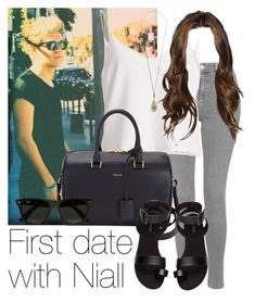 """REQUESTED: First date with Niall"" by style-with-one-direction ❤ liked on Polyvore featuring Topshop, Yves Saint Laurent, H&M, Ray-Ban, OneDirection, 1d, NiallHoran and niall horan one direction 1d"