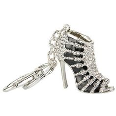Crystal Keychain, Sexy High Heels, Austrian Crystal, Black Enamel, Me Too Shoes, Shoes Heels, Sandals, Crystals, Silver