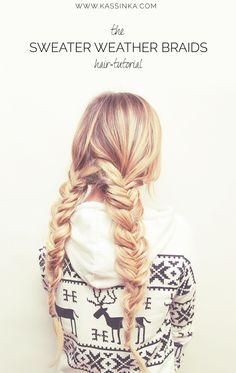KASSINKA - sweater weather braids hair tutorial