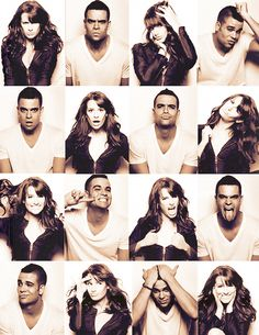 Mark Salling and Lea Michele