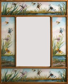 Hand-Painted Dragonfly Mirror