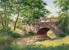 Bridge Painting - The Old Bridge by MotionAge Designs