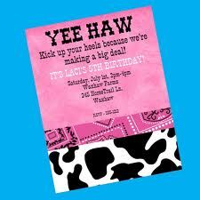 cowgirl first birthday invitations - Google Search