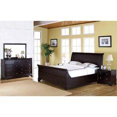 Abbyson Living Kingston 5-piece Espresso Sleigh Queen-size Bedroom Set