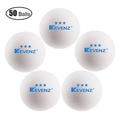 KEVENZ 3-Star 40mm Table Tennis Balls,Advanced Training Ping Pong Balls (Orang,White,Practice ping-pong)