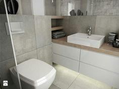 Łazienka Bathroom Layout, Bathroom Interior Design, Bathroom Styling, Bathroom Storage, White Bathroom, Small Bathroom, Bathroom Wallpaper Trends, Small Toilet, Bathroom Toilets