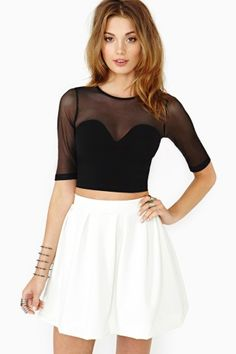 Hot Mesh Crop Top