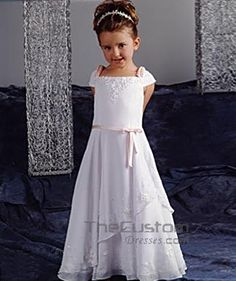 A-line Floor-length Chiffon Flower Girl Dresses 10300004