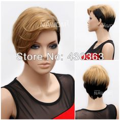 Rihanna Hairstyle Wig Fashion Wig Halloween Wig Short Straight Wig for Women