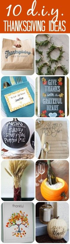 Must pin!  LOVE these 10 Inspiring DIY Thanksgiving craft and Thanksgiving decor ideas rounded up by Designer Trapped in a Lawyer's Body!