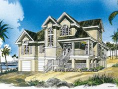 Eplans Low Country House Plan - Perfect for Waterfront Properties - 2055 Square Feet and 3 Bedrooms(s) from Eplans - House Plan Code HWEPL07176