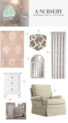 Design a graceful nursery for your daughter in Home Decorators Itsy Bitsy™ style.