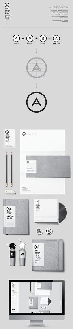 Personal Identity Design by Andreja Popovic, via Behance