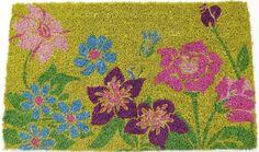 Entryways Wildflower Power Hand Woven Coir Doormat, 18 by 30-Inch * Huge discounts available now! : Doormats
