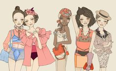 Whimsical World of Laura Bird: Friederich Herman - Fashion Illustrator