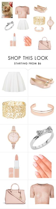 """Cupcake Phase"" by gabriellecute ❤ liked on Polyvore featuring Topshop, Monsoon, Charlotte Russe, Leith, River Island, Kate Spade, Rimmel, Elegant Touch, Michael Kors and Glamorous"