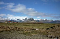 View across fjord from Sudur Bar to Kirkjufell