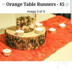 Wedding Orange Table Runners For Wedding For Sale Denver, CO Http://denver