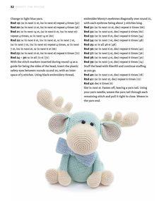 Monty the Moose Crochet pattern by LittleAquaGirl Crochet Animal Patterns, Crochet Patterns Amigurumi, Crochet Animals, Crochet Dolls, Crochet Stitches, Crochet Gratis, Cute Crochet, Easy Crochet, Knit Crochet