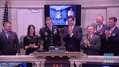 Medal of Honor recipient Ryan Pitts closes NYSE, destroys gavel :-D
