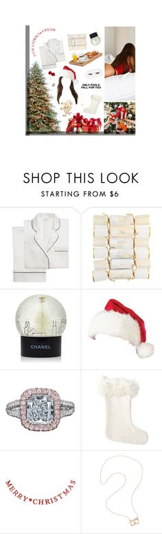 """""""25 December"""" by alxksandria ❤ liked on Polyvore featuring Chanel, P.J. Salvage, Prada, Serena & Lily and Jack Vartanian"""
