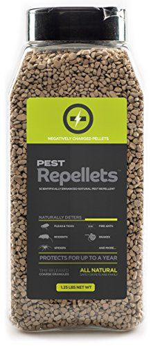 Non-Toxic Pest Repellent Pellets. Repels Rabbits, Rats, Snakes, Mice, Flea and Ticks, Spiders, Fire Ants and More. Safe for Children, Pets and Plants. (1.25 LBS) Huma.ne http://www.amazon.com/dp/B013H4HR3S/ref=cm_sw_r_pi_dp_d52Wwb1QJ6V0Y