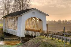 Gilkey Covered Bridge over Thomas Creek near Crabtree, Linn County, Oregon | Photo by Craig Pifer