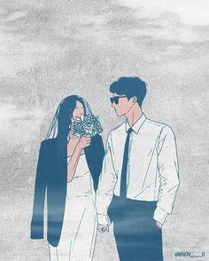 Couple Aesthetic, Aesthetic Art, Aesthetic Anime, Cute Couple Drawings, Cute Couple Art, Anime Couples, Cute Couples, Ghost Rider Wallpaper, Cute Couple Wallpaper