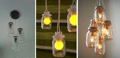 Reciclar, reutilizar e reaproveitar...E cada vez mais rimam com decorar.  Você pode reutilizar potes de conserva para fazer uma luminária.    Passo a passo :  http://rai-vivendoeaprendendo.blogspot.com.br/2012/01/pap-de-lustre-cvidro-de-azeitona-e-cx.html