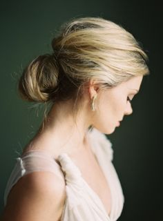Loving this chic updo! It has just the right amount of softness and volume!