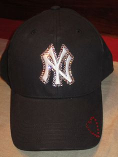 Swarovski Crystal NY New York Yankees Ladies Baseball Cap 67d33ad7c12c