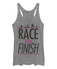 Look what I found on #zulily! Gray Heather 'Race to the Finish' Racerback Tank - Juniors #zulilyfinds