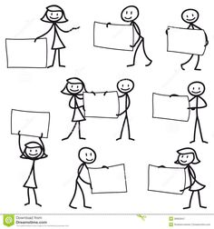 Stick Man Stick Figure Holding Blank Sign - Download From Over 65 Million High Quality Stock Photos, Images, Vectors. Sign up for FREE today. Image: 38950947