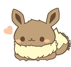 Pudgy Eevee chibi!   ease down on the pokeblocks!