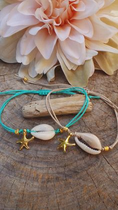 The sterling silver bracelets have been preferred among ladies. These bracelets are offered in different shapes, sizes and styles. Starfish Bracelet, Beach Bracelets, Summer Bracelets, Shell Bracelet, Bohemian Bracelets, Macrame Bracelets, Handmade Bracelets, Ankle Bracelets, Seashell Jewelry