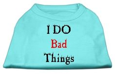 Mirage Pet Products 20-Inch I Do Bad Things Screen Print Shirts for Pets, 3X-Large, Grey