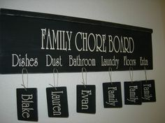 FAMILY CHORE BOARD with Crown Molding and 6 by TheElegantWall, $41.00