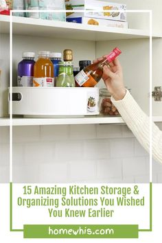 Cluttered kitchen? Running low on storage space? Then, here are 15+ small kitchen organization ideas that help you clear out the clutter and bring everything back in order again! From under the sink organization to countertop organizations ideas, you'll find the best way to utilize storage space, label and group your items together for a neat and organized kitchen! Visit the post now! #homewhis #kitchenorganization #undersinkorganization #declutter #cabinetorganization #fridgeorganization Kitchen Countertop Organization, Under Sink Organization, Sink Organizer, Kitchen Storage, Organization Ideas, Storage Spaces, Under Shelf Basket, Basket Shelves, Fridge Shelves