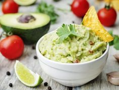 Guacamole is in its own league of dip. Whether you're dipping tortilla chips, carrot sticks, or fajitas, this guacamole recipe is a must. Creamy and tangy, this guacamole recipe adds fresh cilantro to seal the deal. Gourmet Recipes, Mexican Food Recipes, Vegetarian Recipes, Healthy Recipes, Ethnic Recipes, Superfood Recipes, Healthy Breakfasts, Mexican Dishes, Healthy Kids