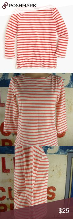 "J. Crew Boatneck Top Shirt Size XS Great condition  Cotton 29"" length 17"" side to side at the under arm J. Crew Tops"