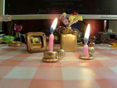 Miniaturas de  candelabros con velas