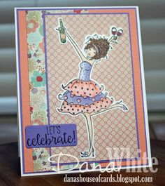 Bellarific Friday with Stamping Bella- Rubber stamp used WINOBELLA card made by DANA WHITE
