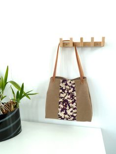 Tote Bag Cherry Burgundy  Made to order by marabaradesign on Etsy