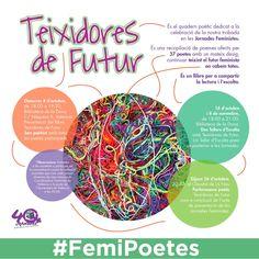 Jam poètica Teixidores de Futur , dedicat a totes les feministes, vol ser un punt de trobada per a la reflexió i la millora del no...