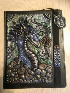 Polymer cover book. Dragon