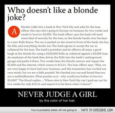 Never judge a girl...