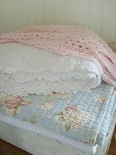 crochet, lace, quilt....perfect combo