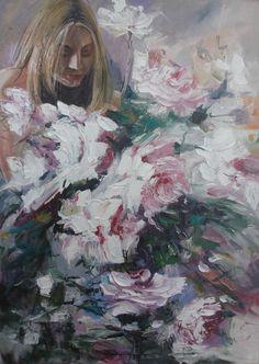 Oil Paint Romantic Series (Yağlıboya Romantic Seri) Romantic Series, Water Marbling, Marble Art, Event Organization, Woman Painting, Art Director, Art Google, Fine Art, Beautiful