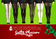 Sims 3 Download: Set of 6 tights by sunpi
